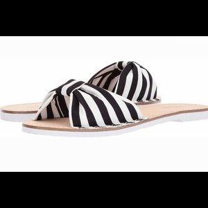 NWOT Kate Spade ♠️Black and White Slides 10.5